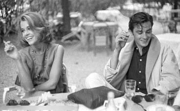 Alain Delon and Jane F...